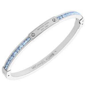 Michael Kors Color Crush Blue CZs Bangle Bracelet